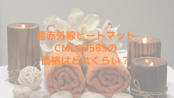 遠赤外線ヒートマットCML605BSの価格はどれくらい?